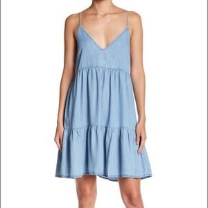 NWT Lovestitch Chambray Lace-up Summer Dress